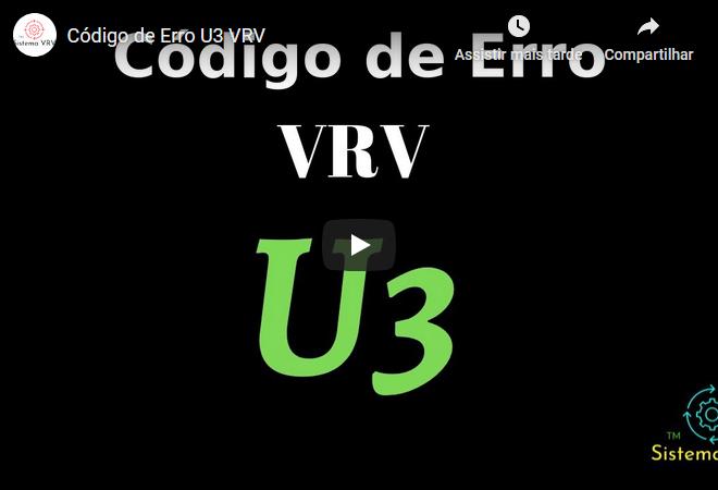 Código de Erro U3 VRV