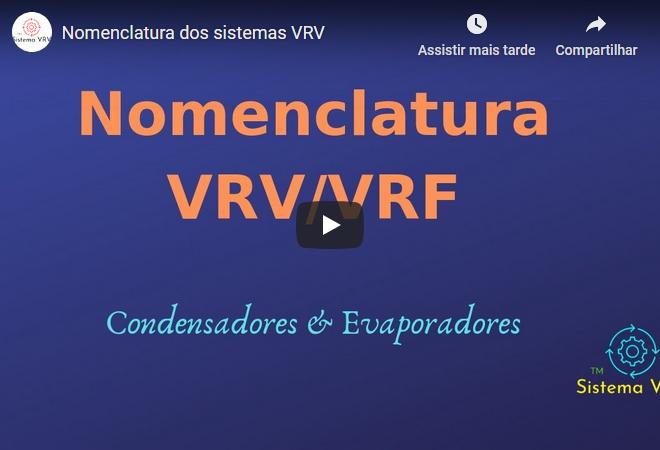 Nomenclatura dos sistemas VRV