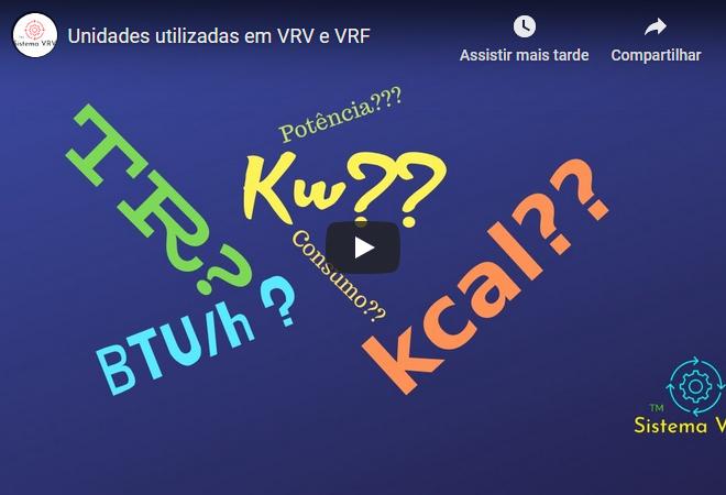 Unidades utilizadas em VRV e VRF